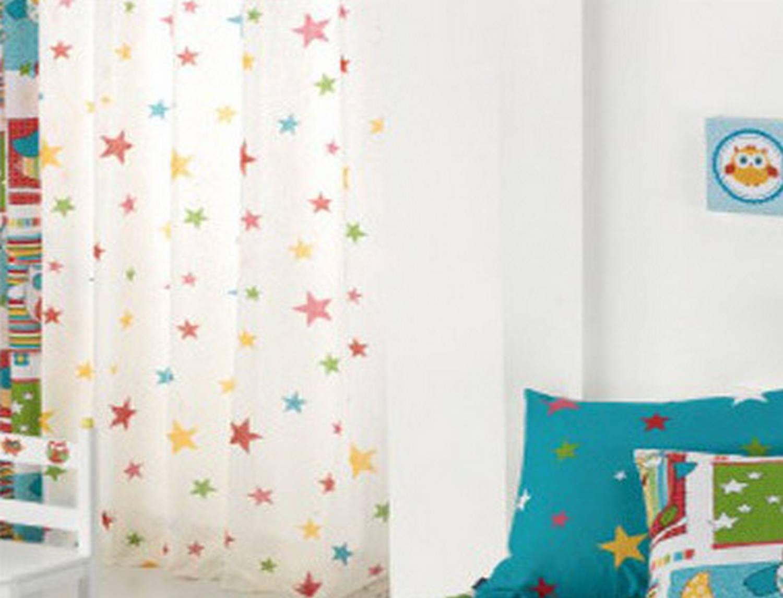 Cortina visillo con ollaos star centro textil hogar for Cortina visillo blanco
