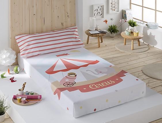 Sansa - Juego de cama 100% Algodón Circo