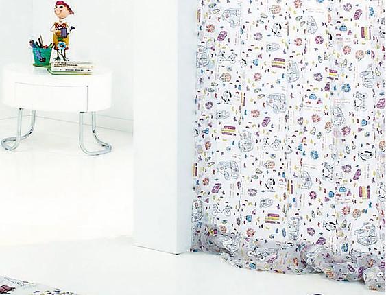 Cañete - Cortina Visillo con ollaos Kids Devoré