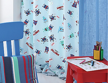 Cañete - Cortina con ollaos Monsters B