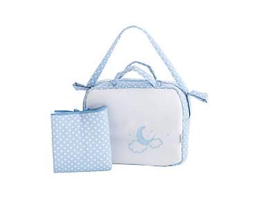 Pekebaby - Pack Bolso y cambiador de viaje (vestidor) Moon Azul
