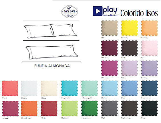 Cañete - Almohadón serie Lisos  Play basic collection