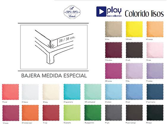 Cañete - Bajera ajustable 38CM Lisos Play Basic alto especial