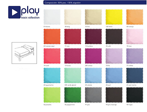 Cañete - Juego de cama Lisos Play Basic Collection