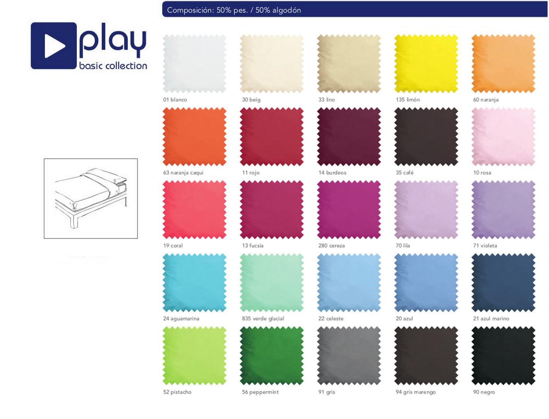 Cañete Juego de cama Lisos Play Basic Collection