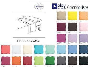 Cañete - Juego de cama Lisos Play Basic Collection