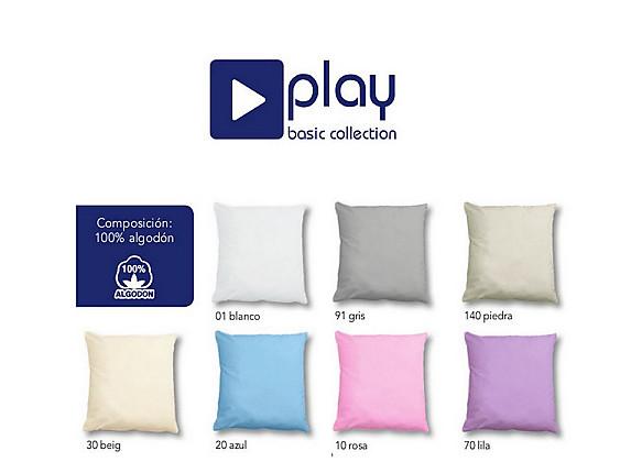 Cañete - Cojín con relleno Lisos 100% Algodón Play Basic Collection