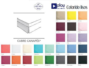 Cañete - Cubrecanapé Lisos Play Basic Collection