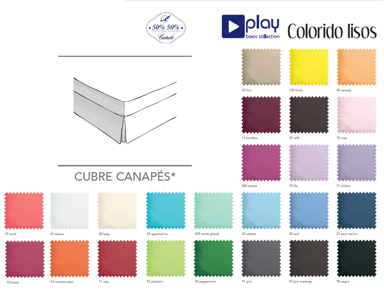 Cañete Cubrecanapé Lisos Play Basic Collection