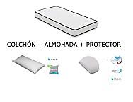 Kit Colchón + Protector+ Almohada para Cuna Mash