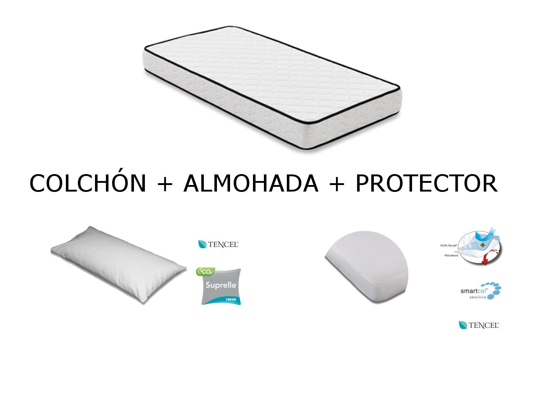 Mash Kit Colchón + Protector+ Almohada para Cuna Mash