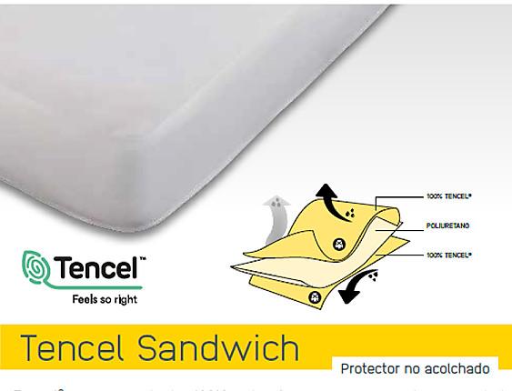 Mash - Cubrecolchón Impermeable Mash Tencel Sandwich