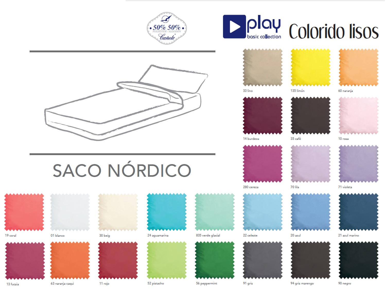 Cañete Saco nórdico lisos Play Basic Collection