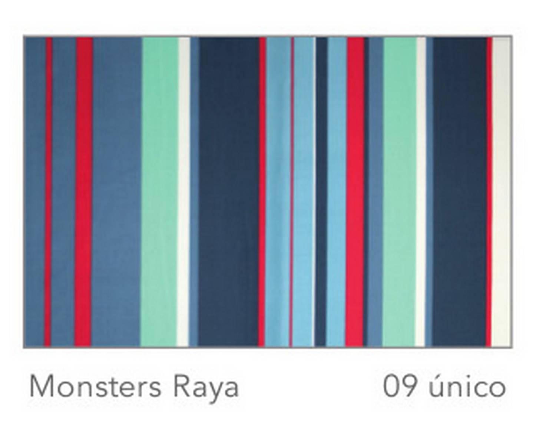 Cañete Cortina con ollaos Monsters Raya Satén