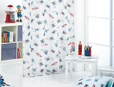 Cañete - Cortina Visillo con ollaos Monsters B