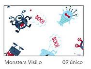 Cortina Visillo con ollaos Monsters B