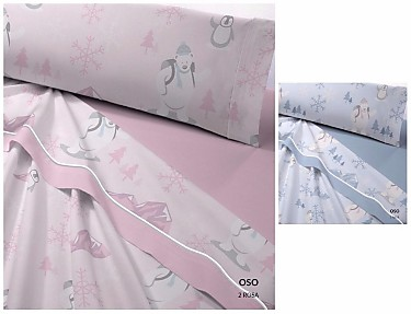 Catotex Juego de cama de invierno Coralina Oso