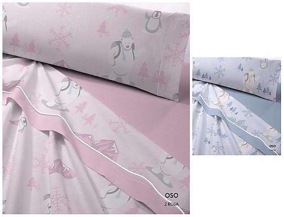 Catotex - Juego de cama de invierno Coralina Oso