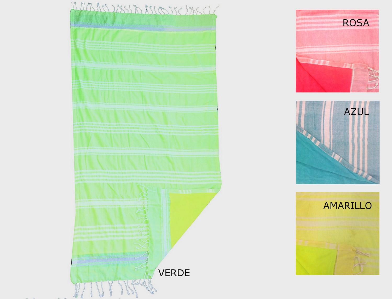 Textil Tarragó Toalla Pareo Kikoy Flúor