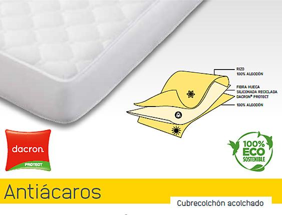 Mash - Cubrecolchón acolchado 100% algodón Mash Antiácaros invierno y verano cama articulada (gemelos)