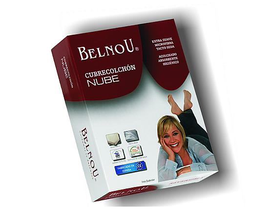Belnou - Cubrecolchón acolchado Reversible Nube
