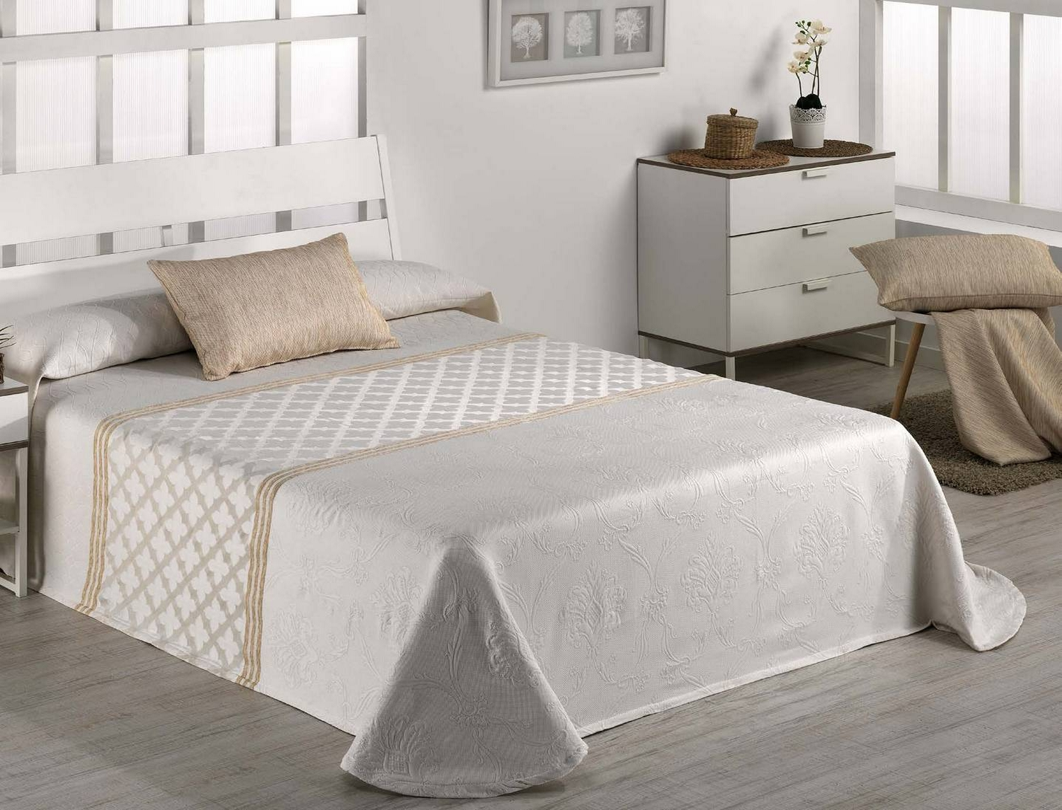 Barbadella Home Colcha Capa Jacquard Valley