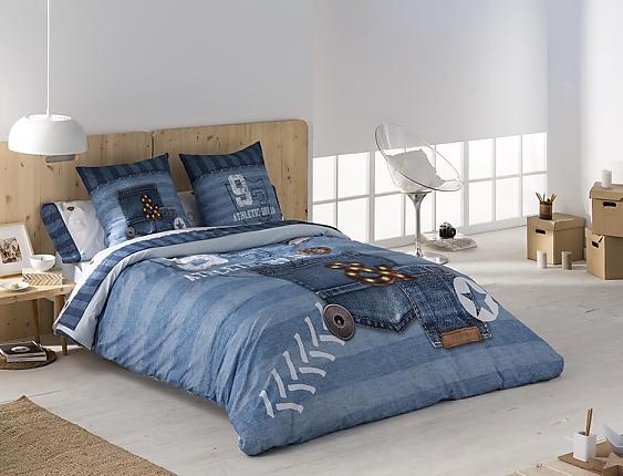 JVR - Funda nórdica 100% algodón Jeans