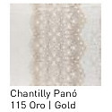 Cortina con ollaos Chantilly