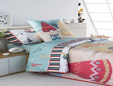 JVR - Juego de cama 100% algodón Indi