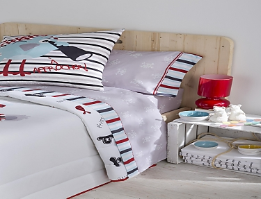 JVR - Juego de cama 100% algodón Pirate