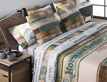 JVR - Juego de cama 100% algodón Rustic