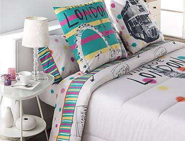 JVR - Juego de cama 100% algodón London