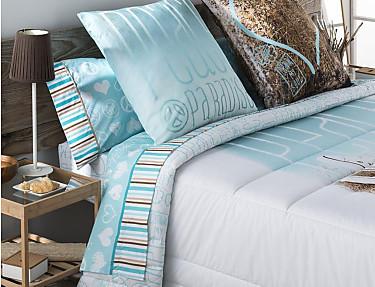 JVR - Juego de cama 100% algodón Peace