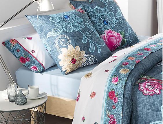 JVR - Juego de cama 100% algodón Bohemy