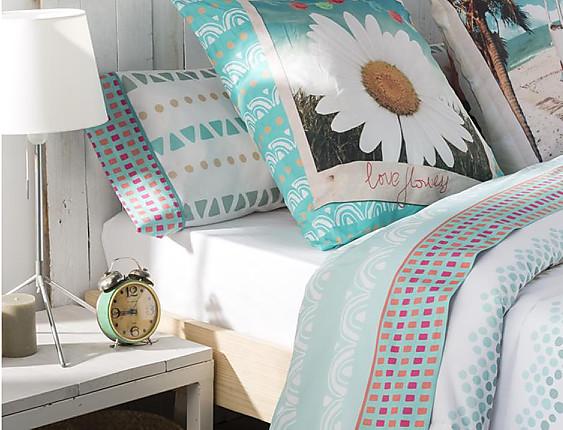 JVR - Juego de cama 100% algodón Hippie