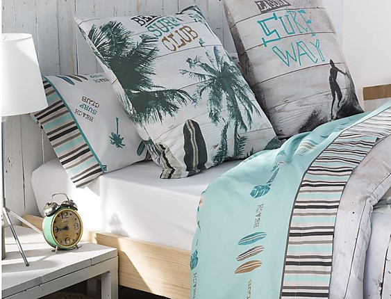 JVR - Juego de cama 100% algodón Surf