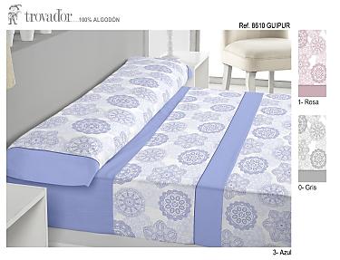 Trovador - Juego de cama 100% Algodón Guipur