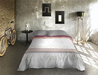 Euromoda - Juego de cama 100% Algodón Naturals Bauhaus