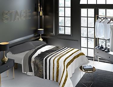 Euromoda - Juego de cama 100% Algodón Naturals Broadway