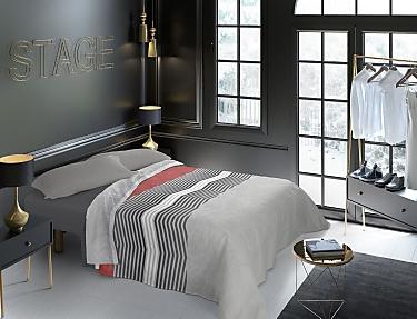 Euromoda - Juego de cama 100% Algodón Naturals Scale