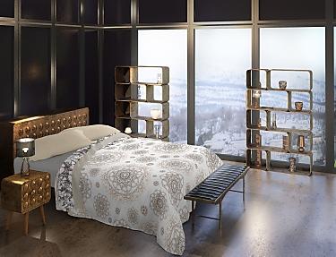 Euromoda - Juego de cama 100% Algodón Naturals Golden