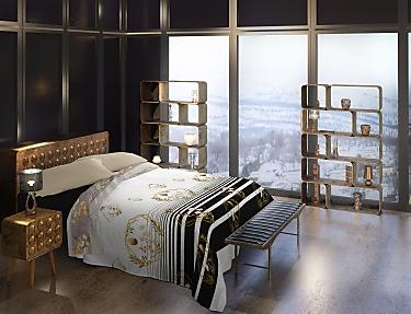 Euromoda - Juego de cama 100% Algodón Naturals Luxury