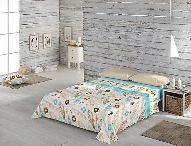 Euromoda - Juego de cama 100% Algodón Naturals Dream