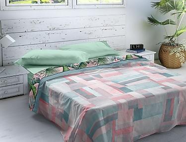 Euromoda - Juego de cama 100% Algodón Naturals Valdivian