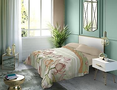 Euromoda - Juego de cama 100% Algodón Naturals Amazonas