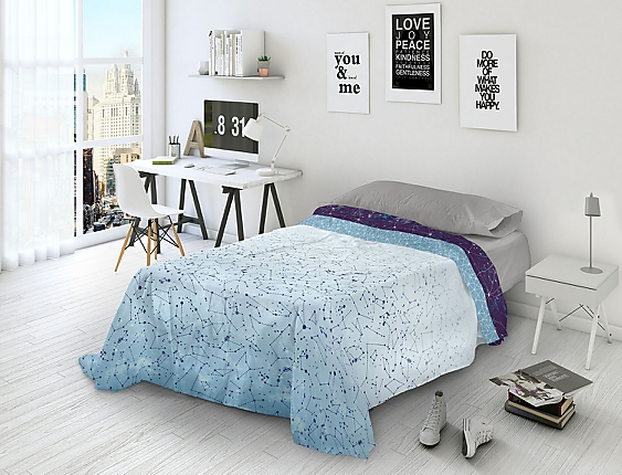 Euromoda - Juego de cama 100% Algodón Naturals Halley
