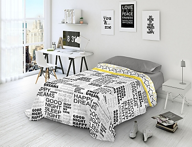 Euromoda - Juego de cama 100% Algodón Naturals Words