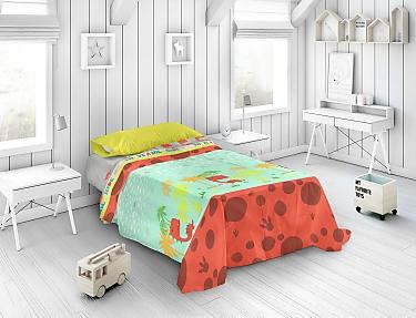 Euromoda - Juego de cama 100% Algodón Naturals Dino