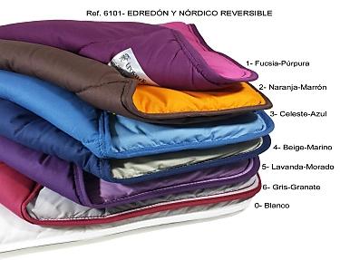 Trovador - Edredón nórdico liso reversible Bicolor