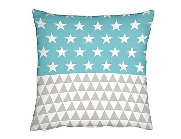 Denisa Home - Cojín Tri Star Celadón 50x50